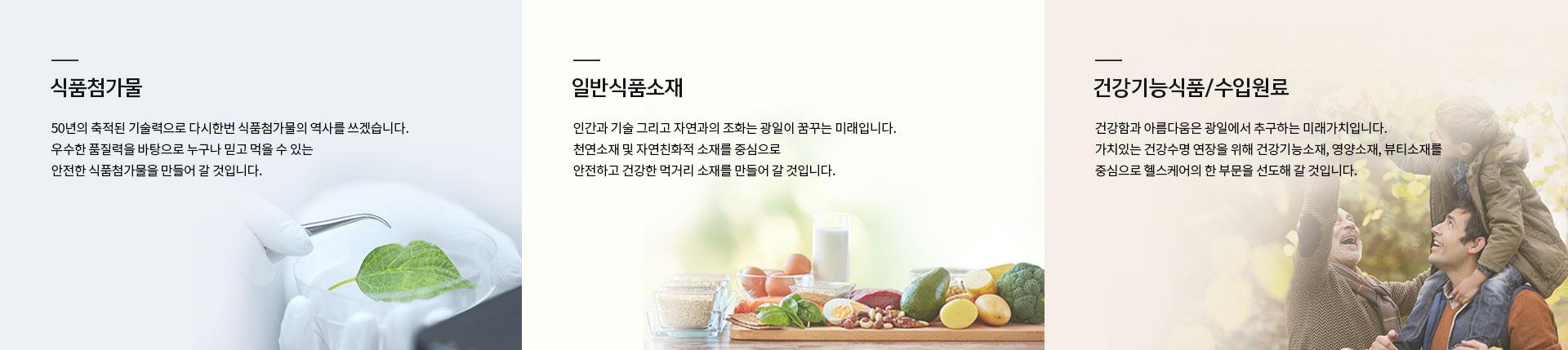 식품첨가물,일반식품소재,건강기능식품/수입원료